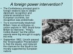 a foreign power intervention