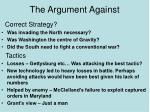 the argument against