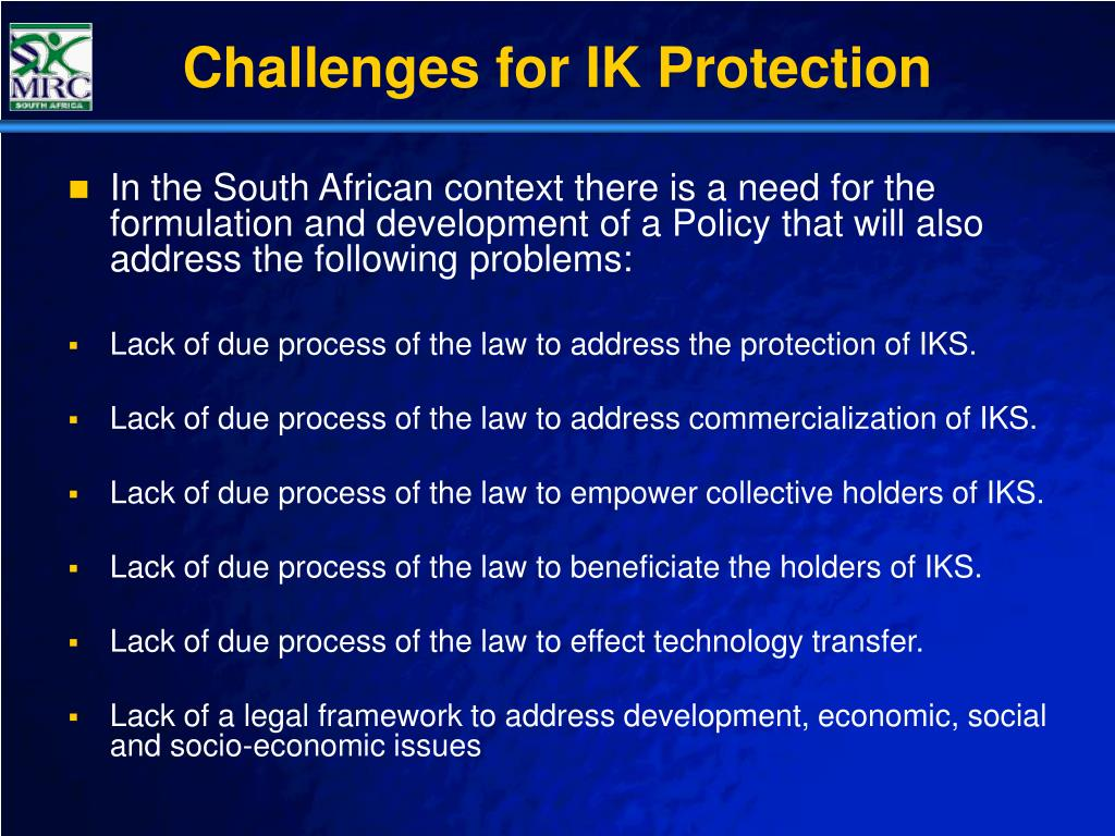 Challenges for IK Protection