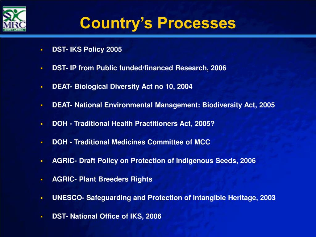 Country's Processes