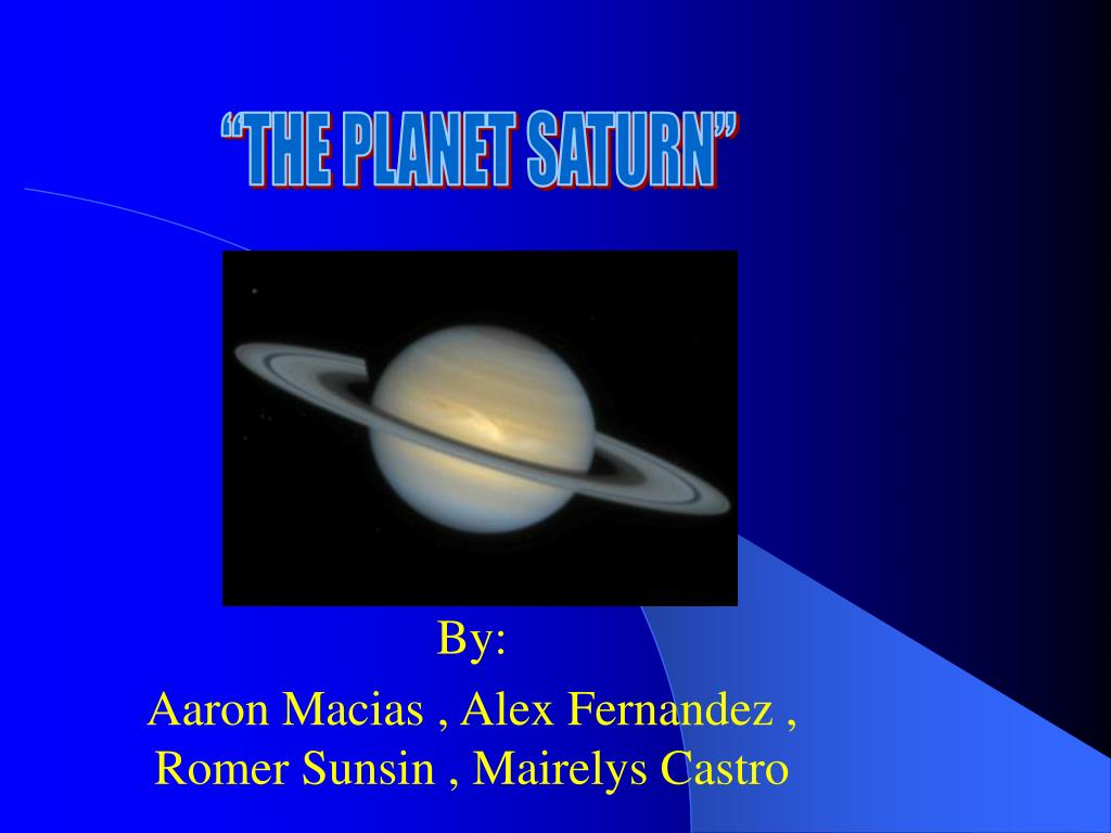 """THE PLANET SATURN"""