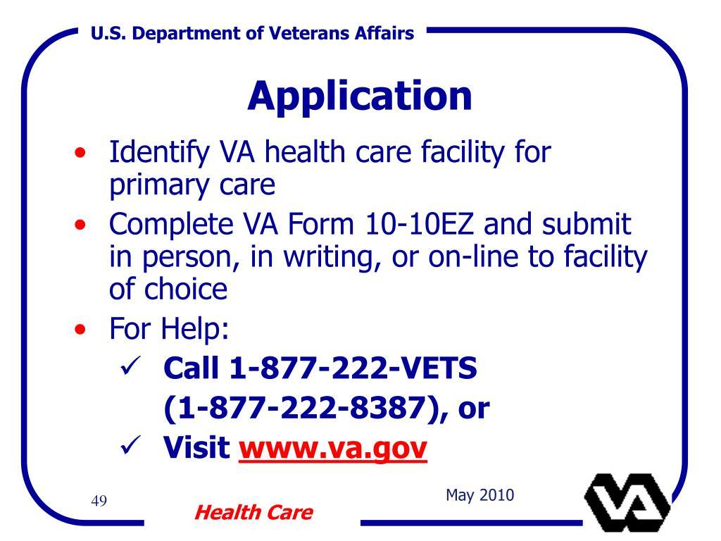 Identify VA health care facility for primary care