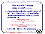 education training how to apply continued142