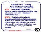 education training how to receive benefits