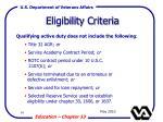 eligibility criteria94