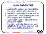 how to apply for vgli