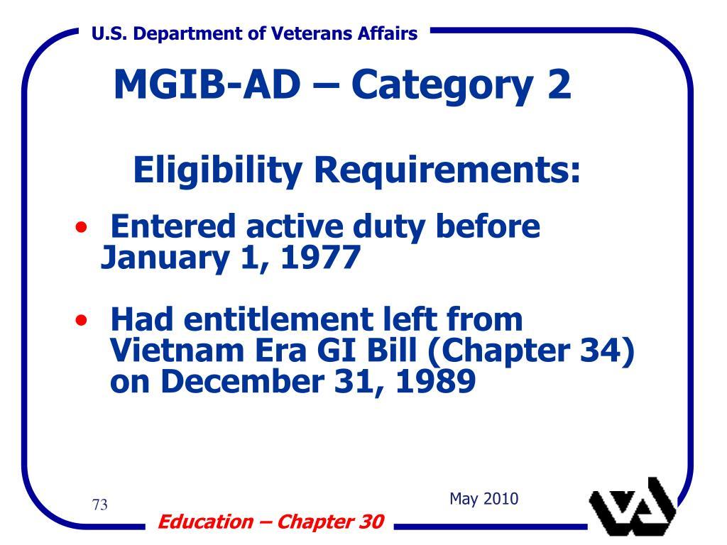 Eligibility Requirements: