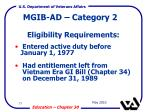 mgib ad category 2