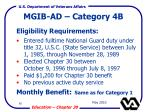 mgib ad category 4b