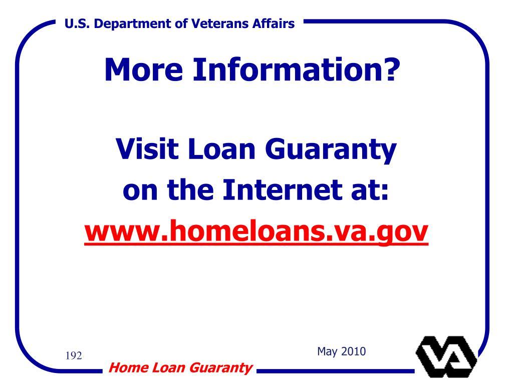 Visit Loan Guaranty
