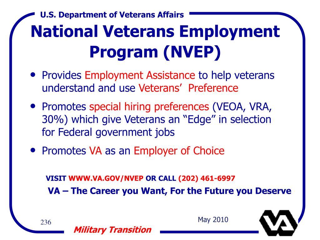 National Veterans Employment Program (NVEP)