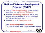 national veterans employment program nvep