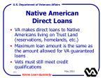 native american direct loans
