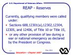 reap reserves