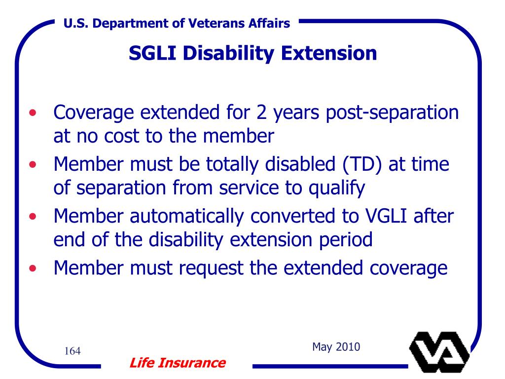 Coverage extended for 2 years post-separation at no cost to the member