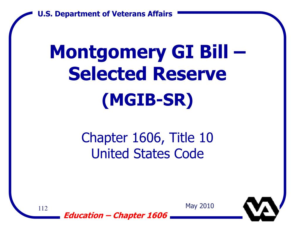 Montgomery GI Bill – Selected Reserve
