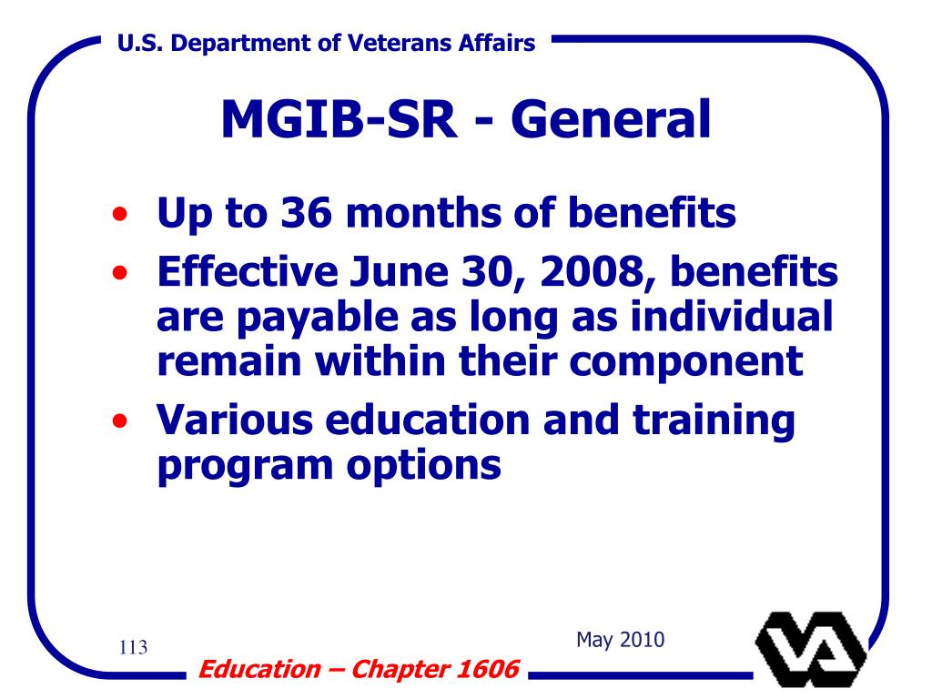 Up to 36 months of benefits