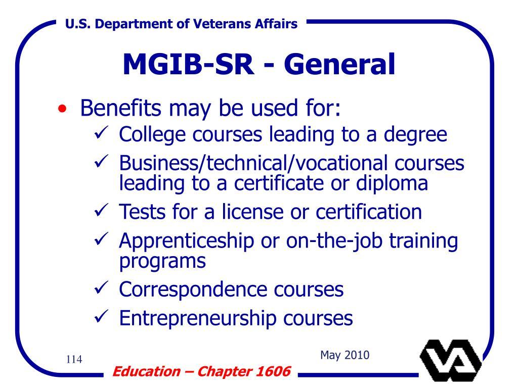 MGIB-SR - General
