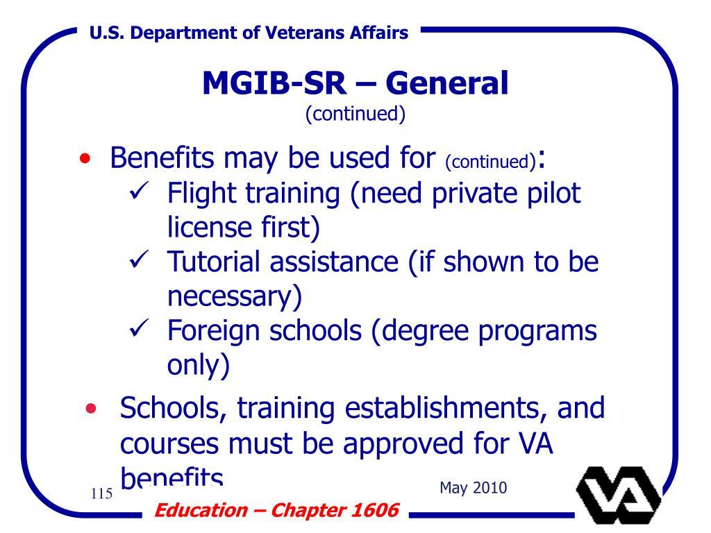 MGIB-SR – General