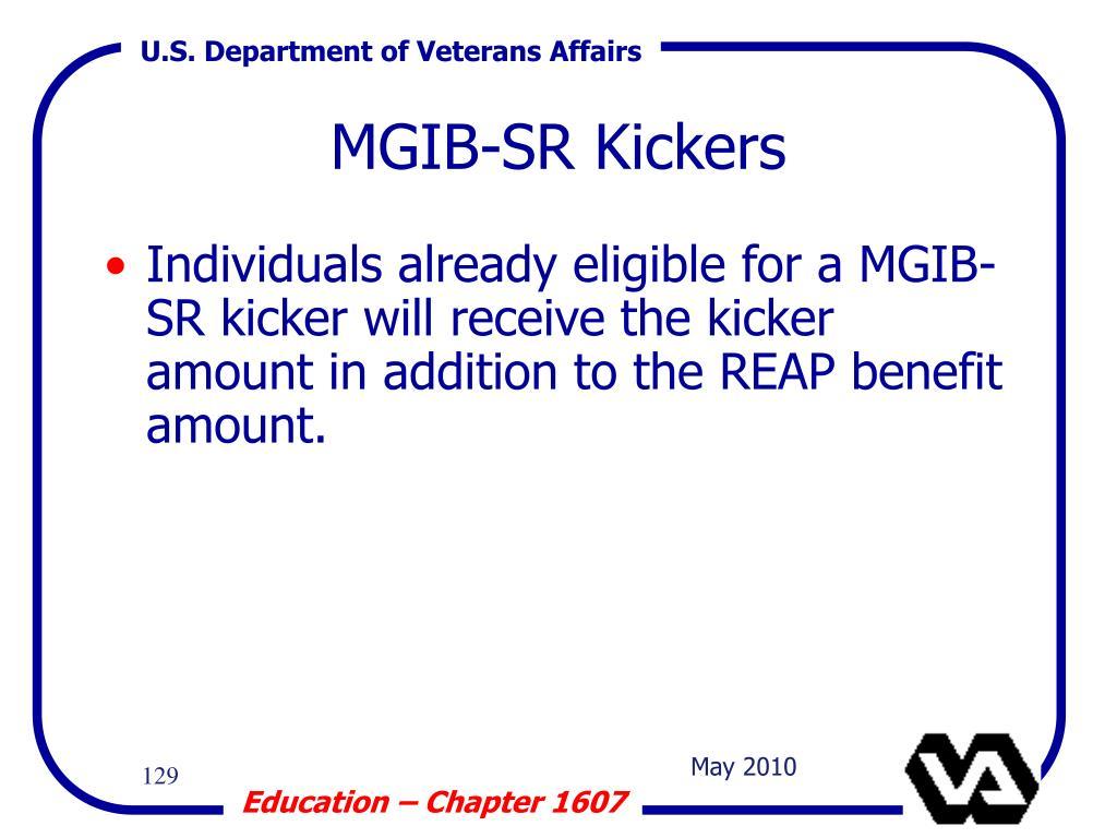 MGIB-SR Kickers