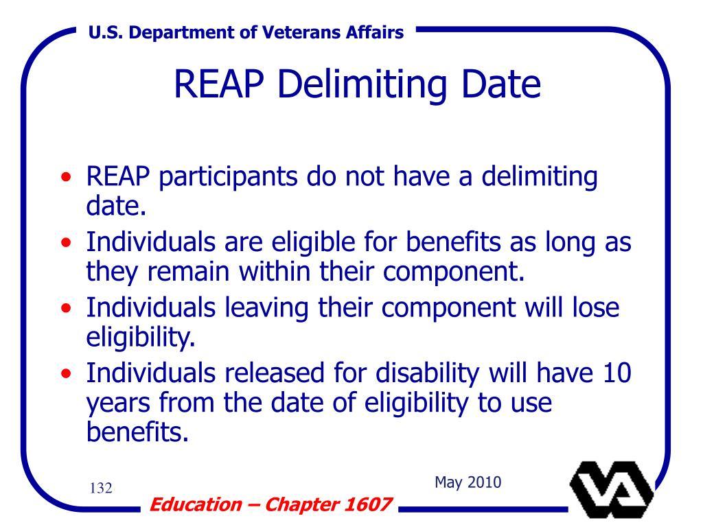 REAP Delimiting Date