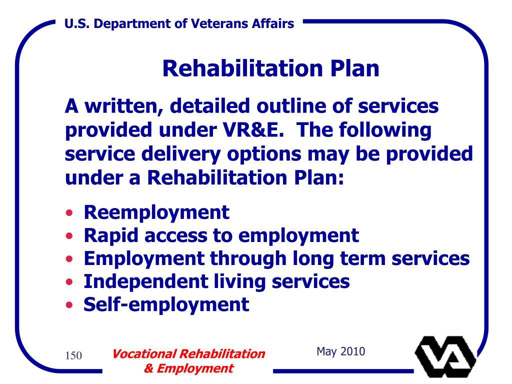 Rehabilitation Plan