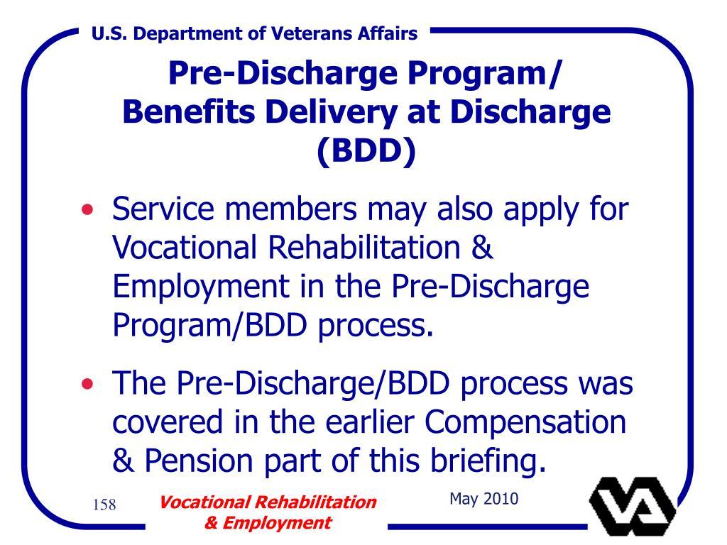 Pre-Discharge Program/