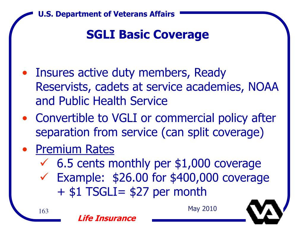 SGLI Basic Coverage