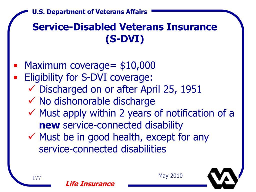 Service-Disabled Veterans Insurance