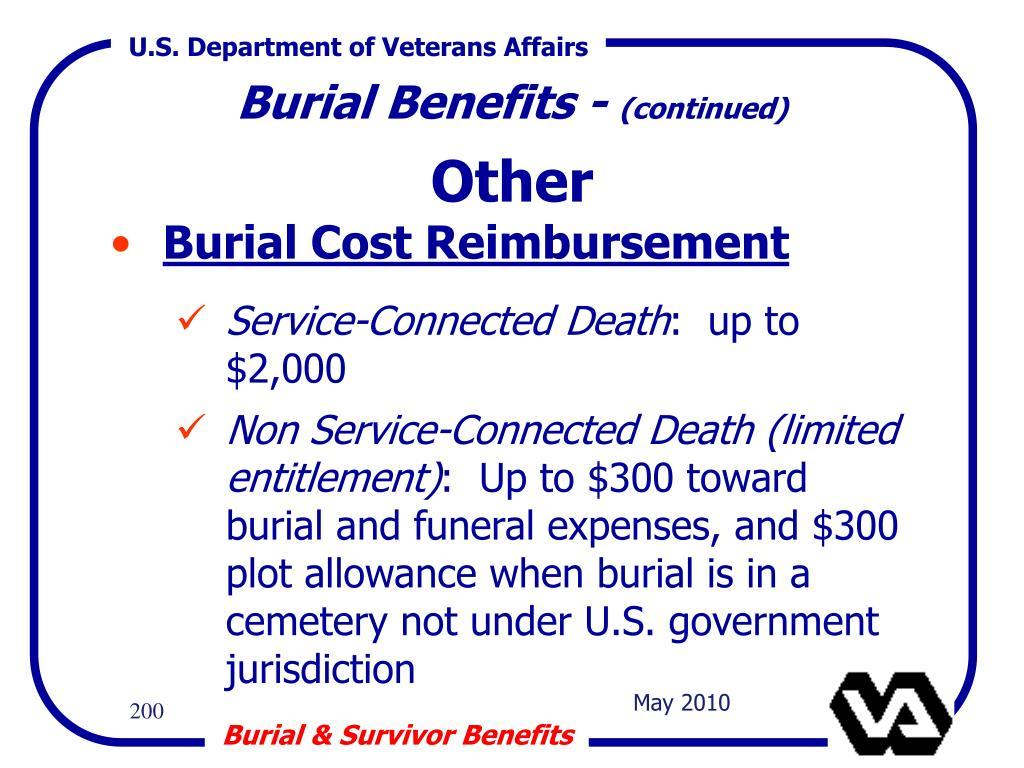 Burial Benefits -