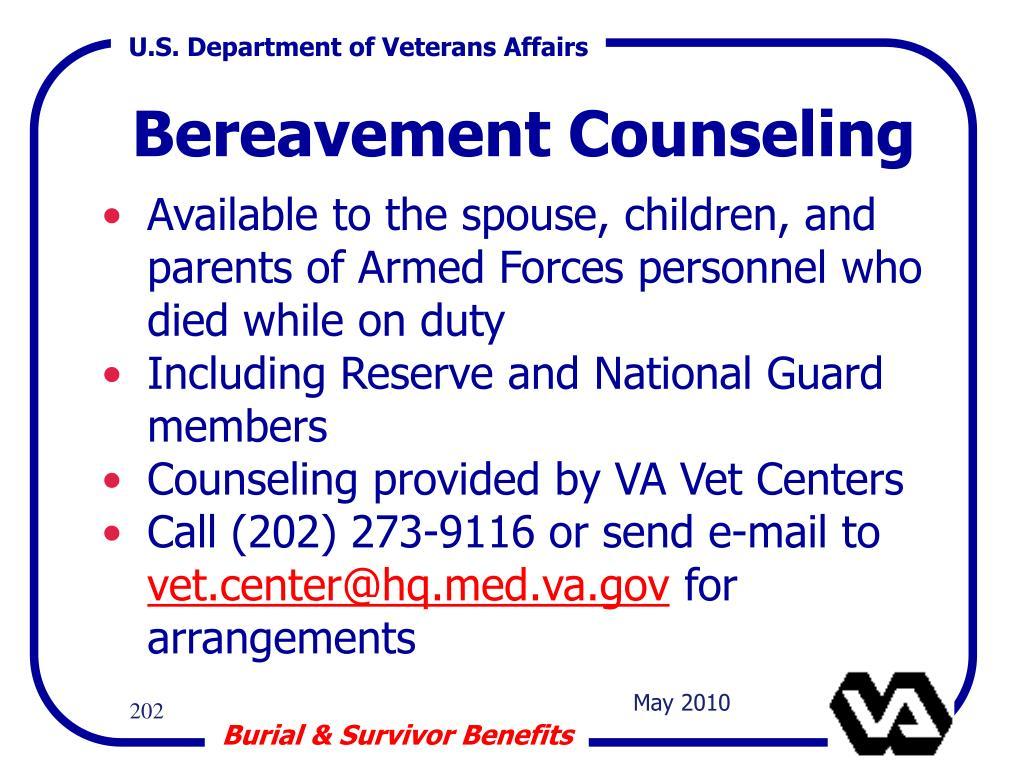 Bereavement Counseling