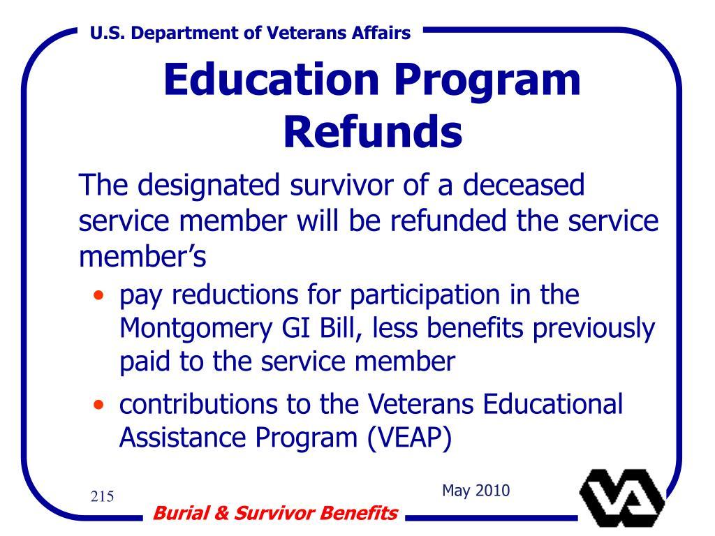 Education Program Refunds