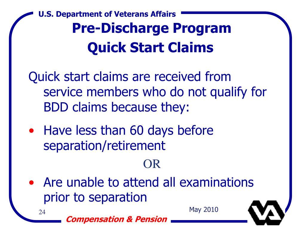 Pre-Discharge Program
