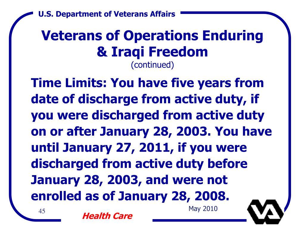 Veterans of Operations Enduring