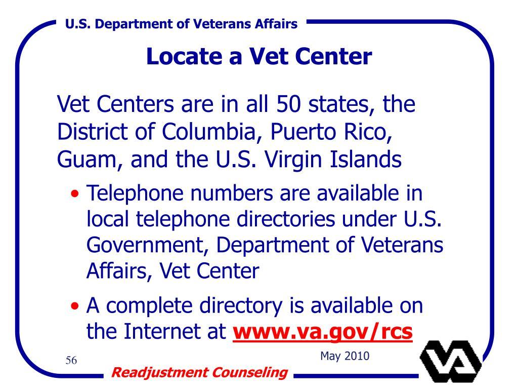Locate a Vet Center