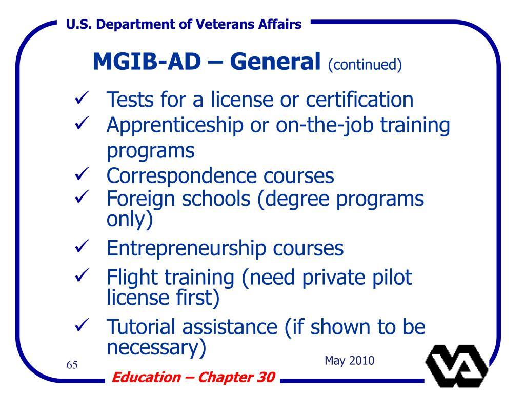 MGIB-AD – General