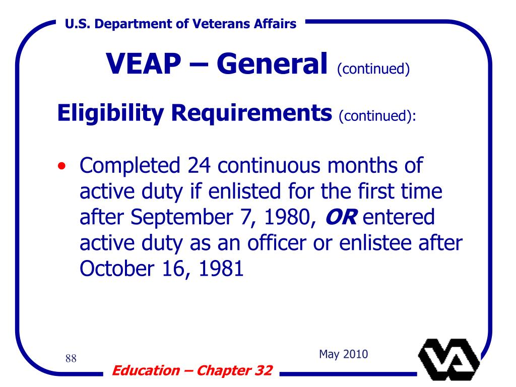 VEAP – General