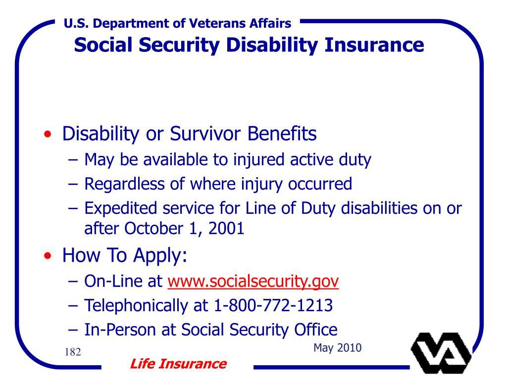 Disability or Survivor Benefits