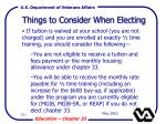 things to consider when electing101