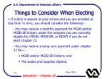 things to consider when electing102