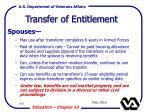 transfer of entitlement108