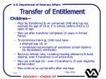 transfer of entitlement109