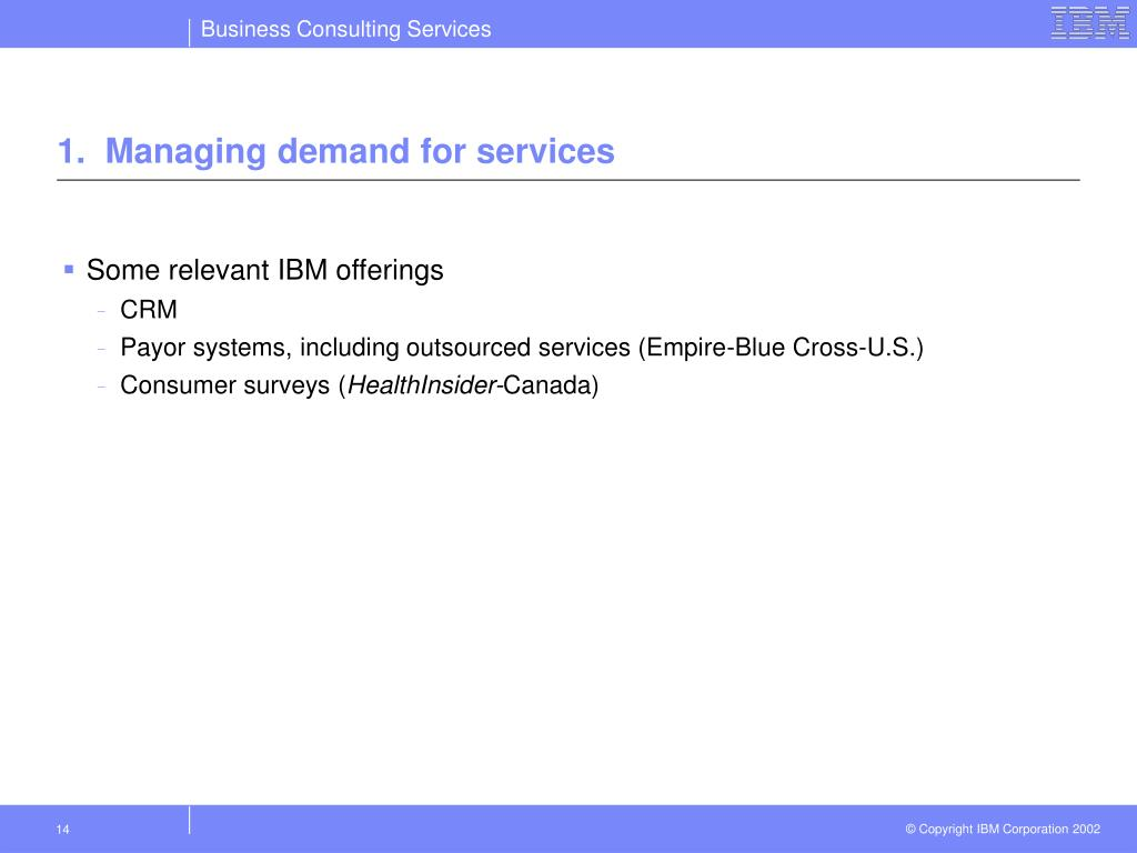 1.  Managing demand for services