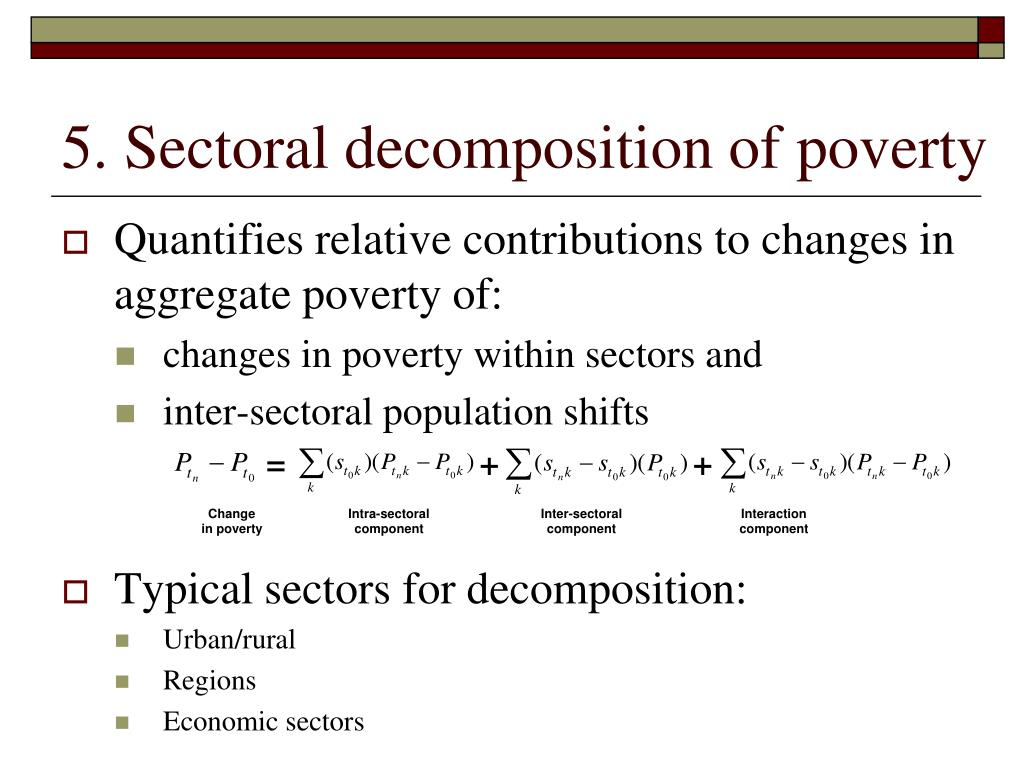 5. Sectoral decomposition of poverty