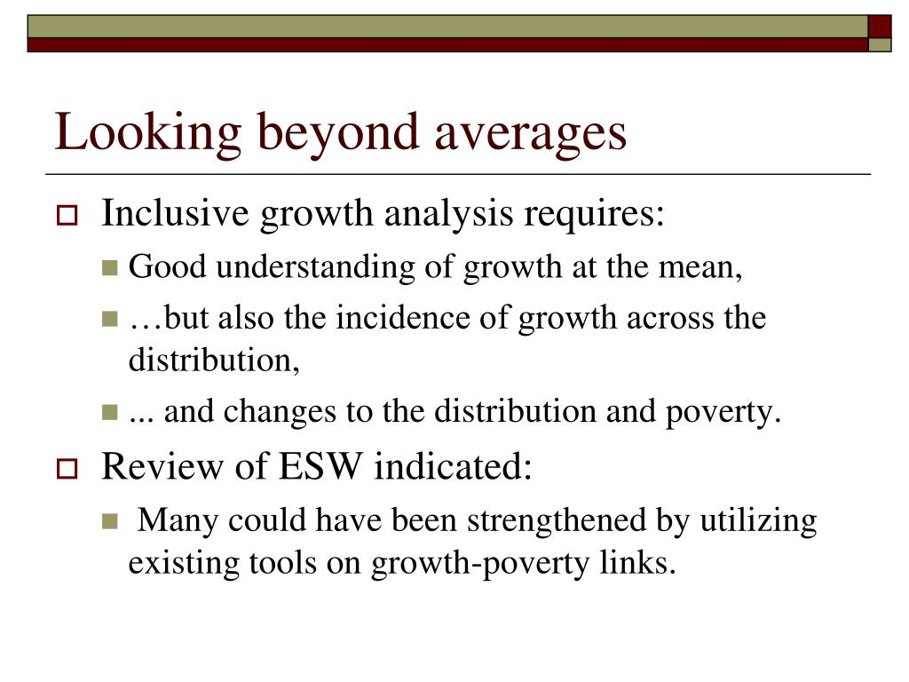 Looking beyond averages