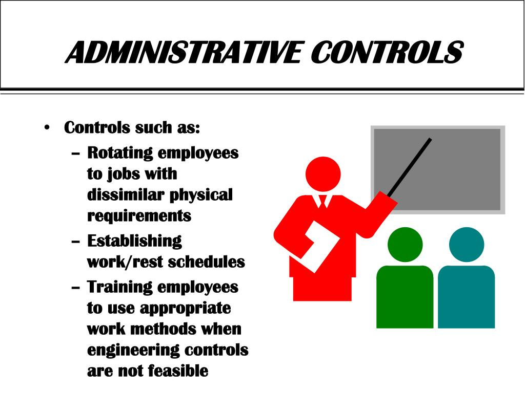 Controls such as: