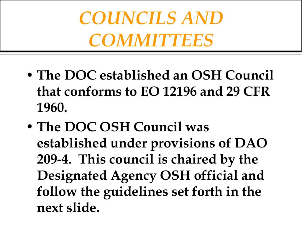 COUNCILS AND COMMITTEES