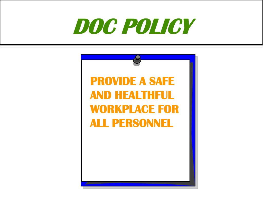 DOC POLICY