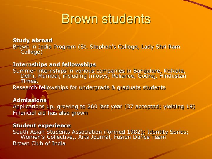 Brown students
