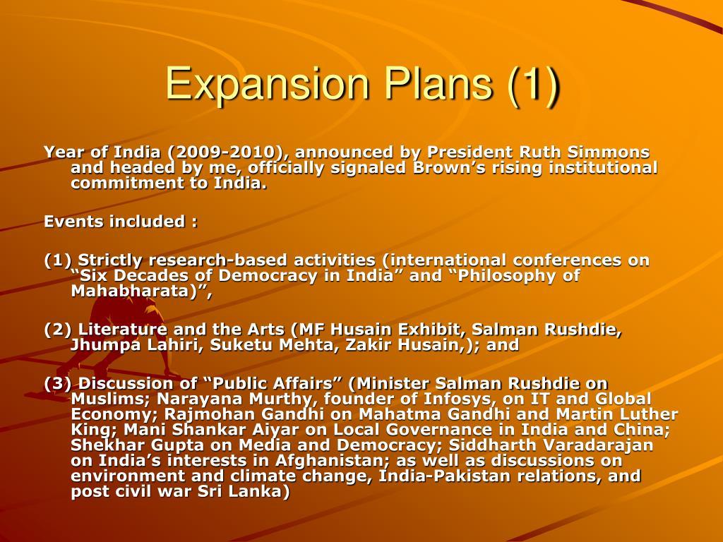 Expansion Plans (1)